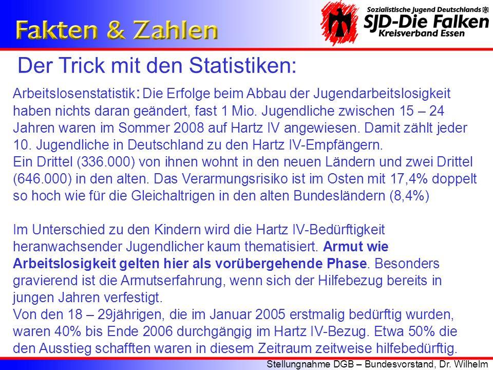 Der Trick mit den Statistiken: