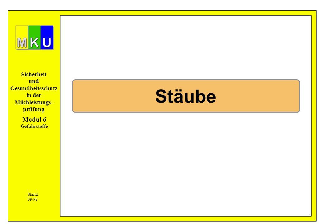 Stäube Modul 6 Gefahrstoffe Stand 09/98