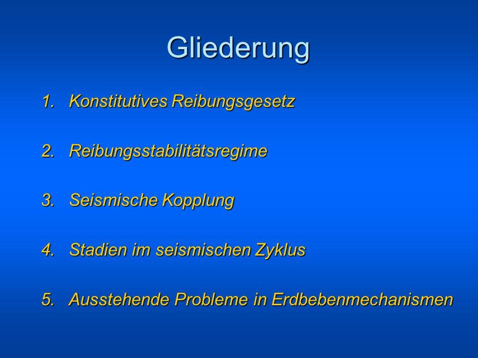 Gliederung 1. Konstitutives Reibungsgesetz