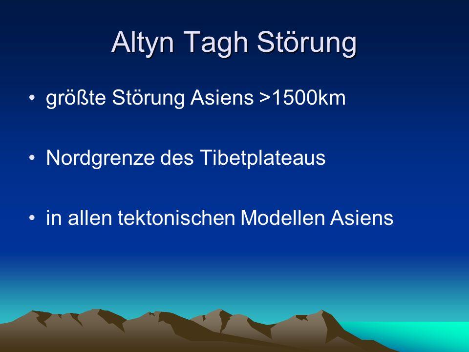 Altyn Tagh Störung größte Störung Asiens >1500km