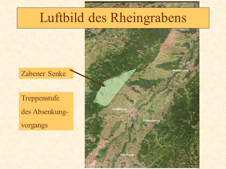 Luftbild des Rheingrabens