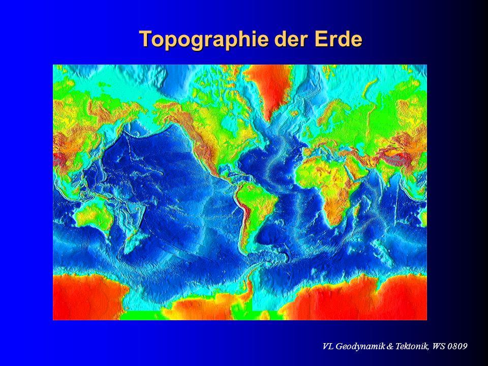Topographie der Erde