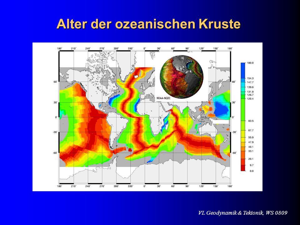Alter der ozeanischen Kruste