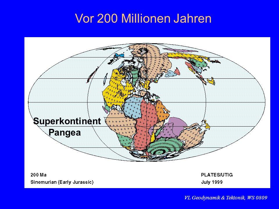 Vor 200 Millionen Jahren Superkontinent Pangea