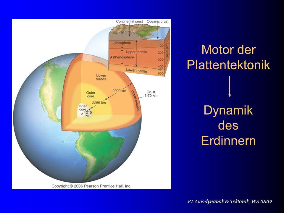 Motor der Plattentektonik Dynamik des Erdinnern