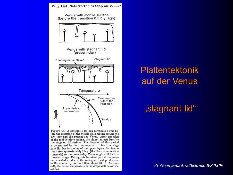 "Plattentektonik auf der Venus ""stagnant lid"
