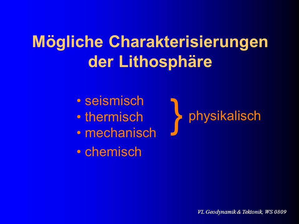 Mögliche Charakterisierungen der Lithosphäre