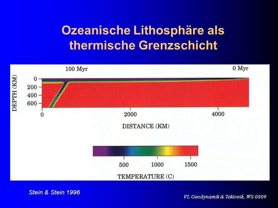 Ozeanische Lithosphäre als thermische Grenzschicht