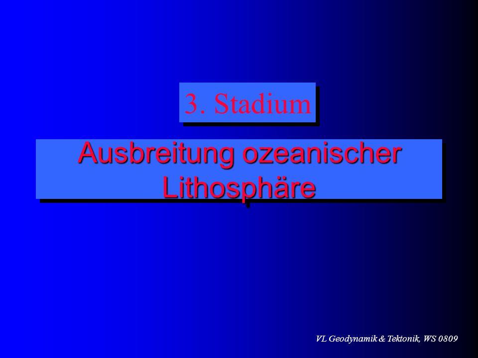 Ausbreitung ozeanischer Lithosphäre