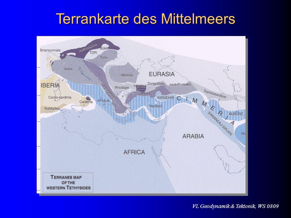 Terrankarte des Mittelmeers