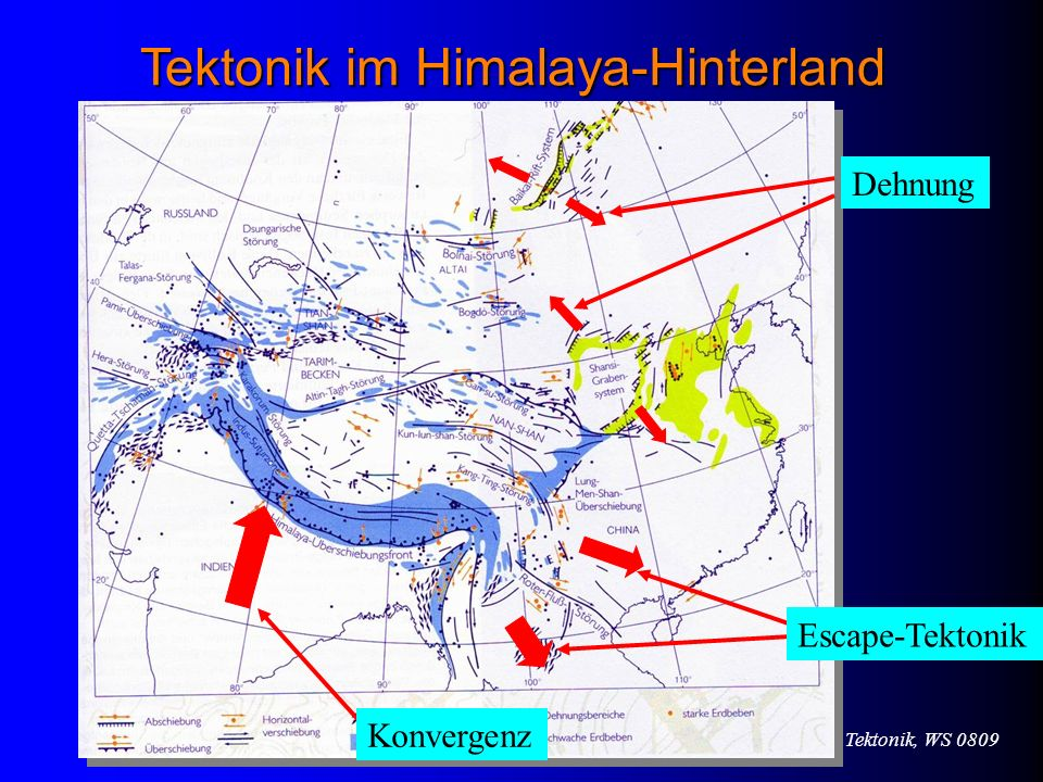 Tektonik im Himalaya-Hinterland