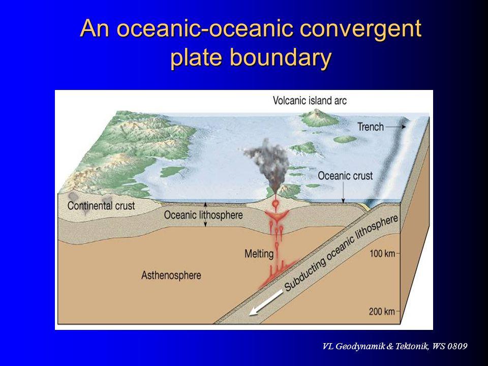 An oceanic-oceanic convergent plate boundary