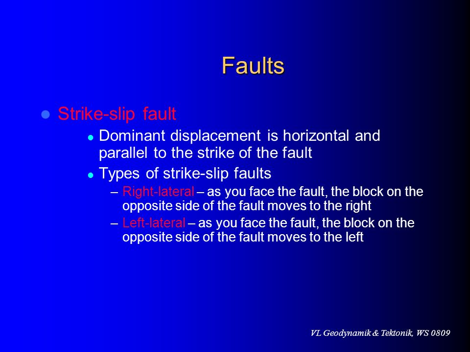 Faults Strike-slip fault