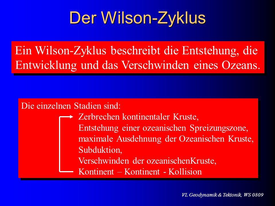 Der Wilson-Zyklus Ein Wilson-Zyklus beschreibt die Entstehung, die