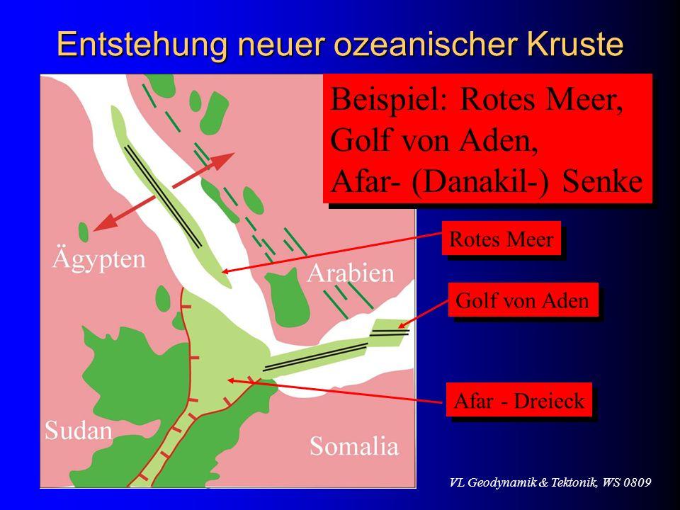 Entstehung neuer ozeanischer Kruste