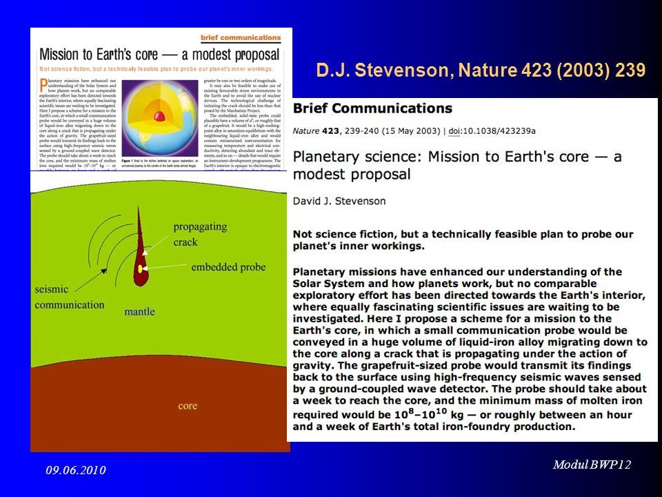 D.J. Stevenson, Nature 423 (2003) 239
