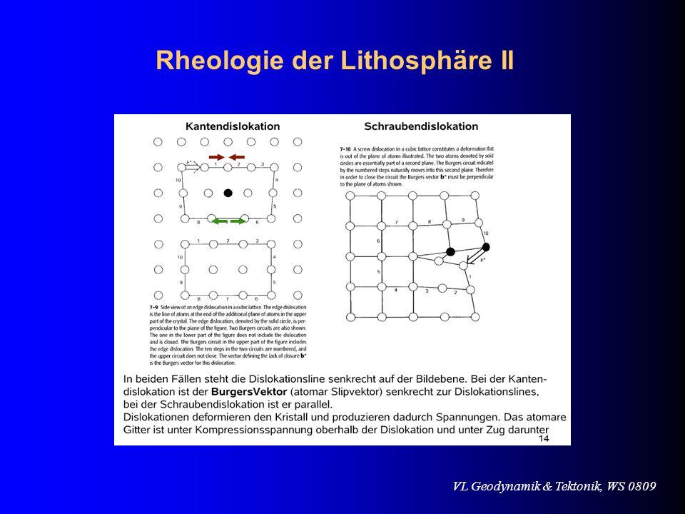 Rheologie der Lithosphäre II