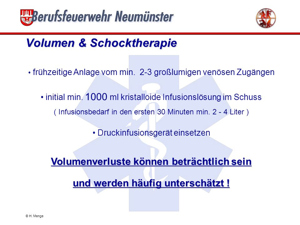 Volumen & Schocktherapie
