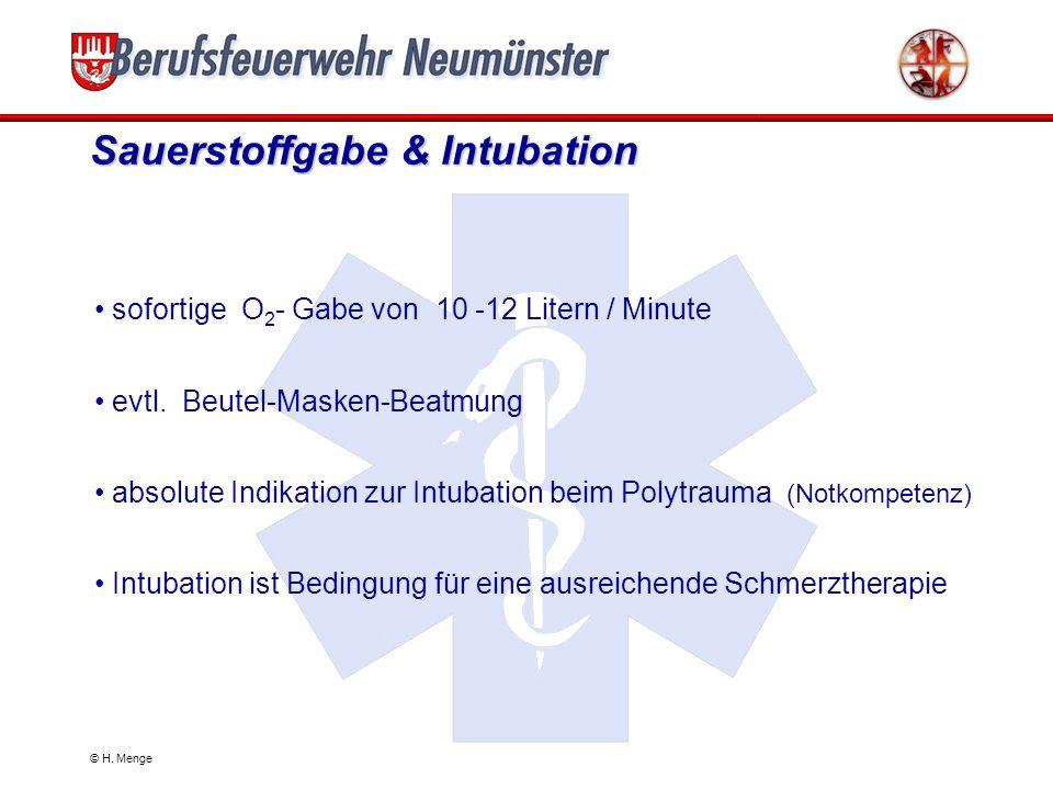 Sauerstoffgabe & Intubation