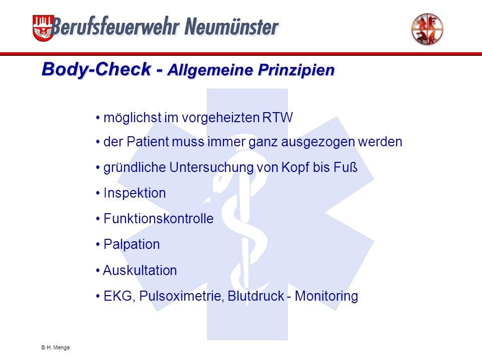 Body-Check - Allgemeine Prinzipien