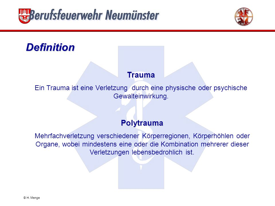Definition Trauma Polytrauma