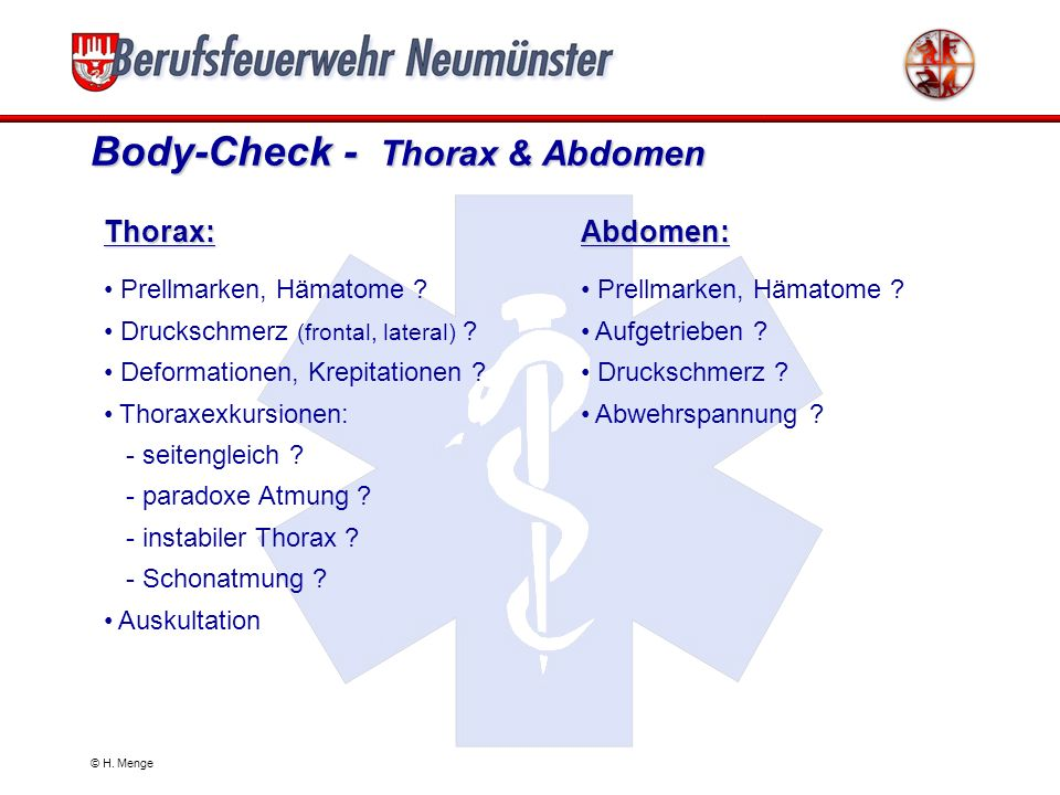 Body-Check - Thorax & Abdomen