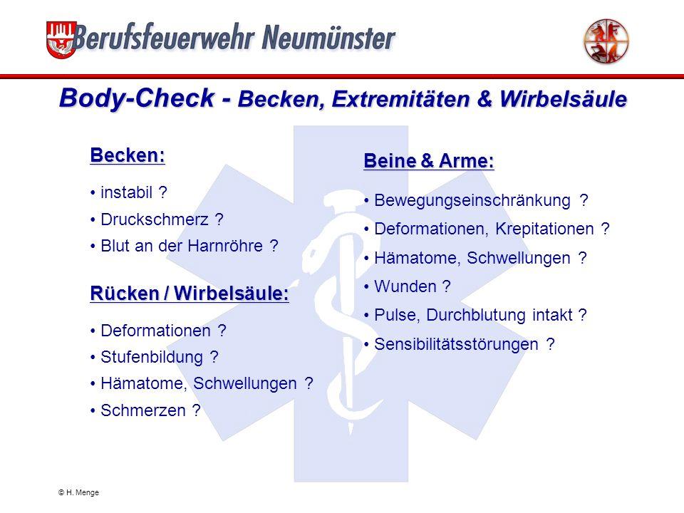 Body-Check - Becken, Extremitäten & Wirbelsäule