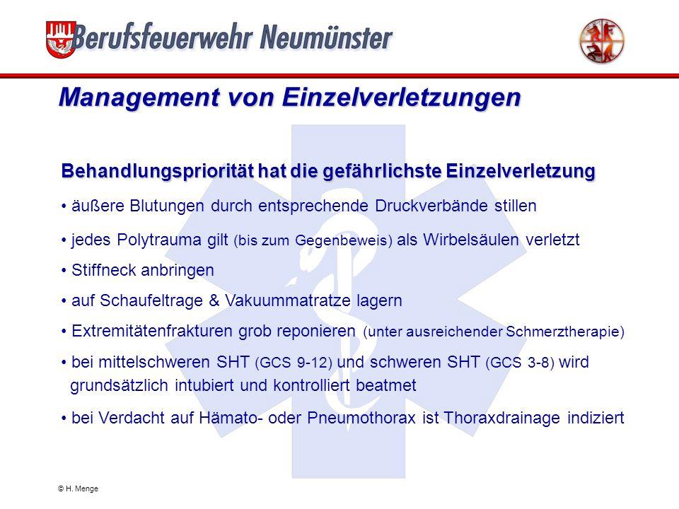 Management von Einzelverletzungen