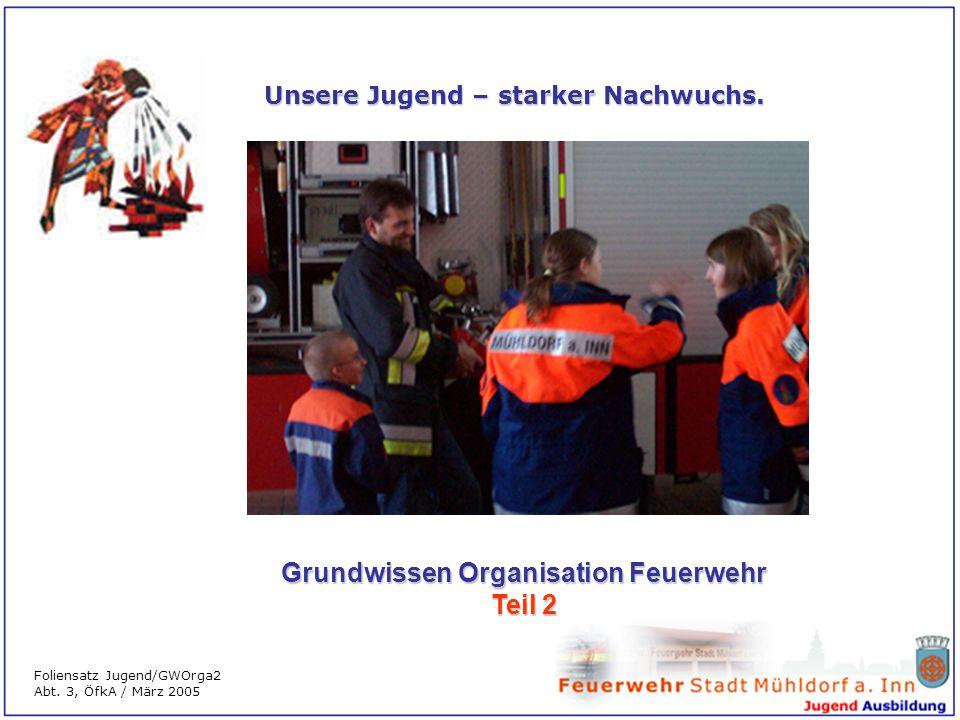 Grundwissen Organisation Feuerwehr Teil 2