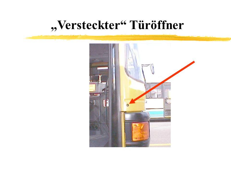 """Versteckter Türöffner"