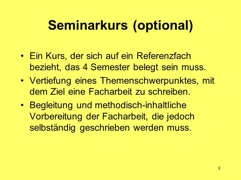 Seminarkurs (optional)