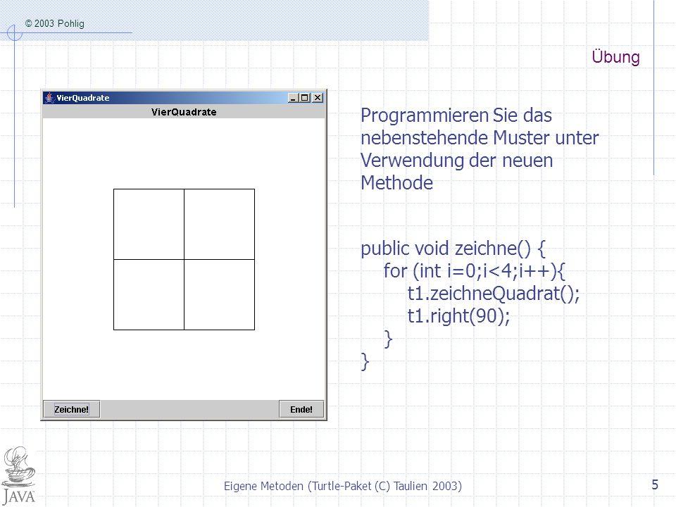 Eigene Metoden (Turtle-Paket (C) Taulien 2003)