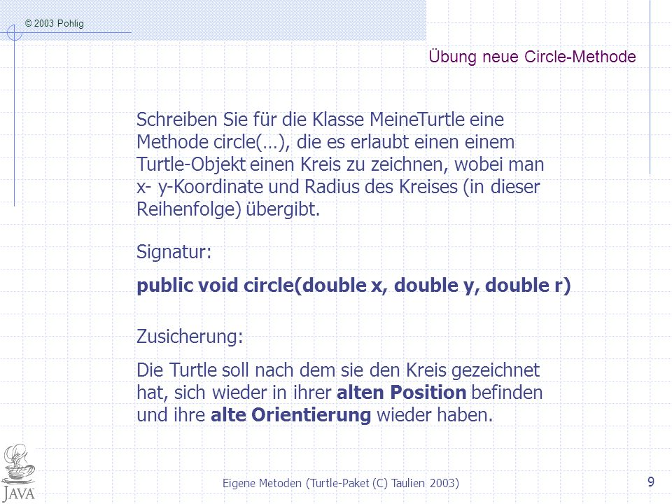 Übung neue Circle-Methode