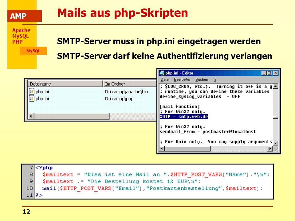 Mails aus php-Skripten