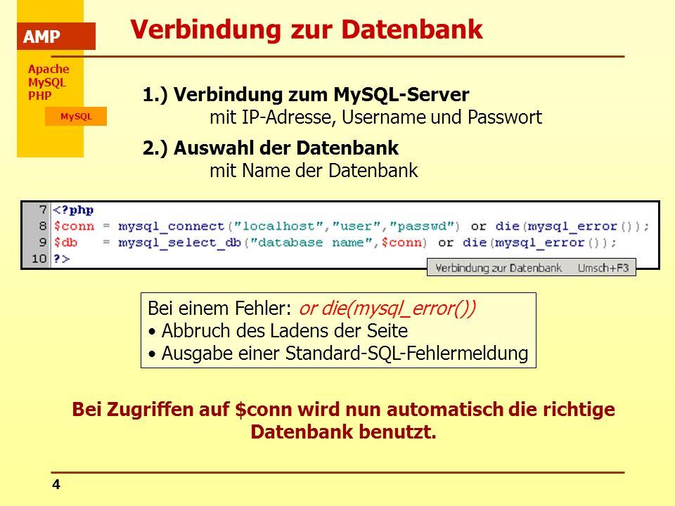Verbindung zur Datenbank