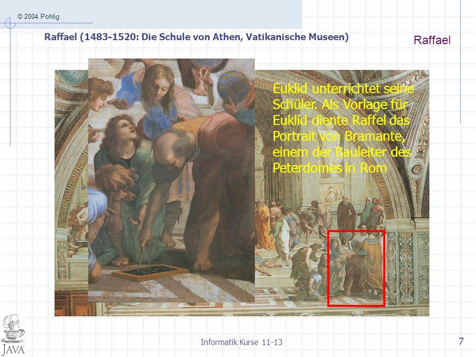 Raffael (1483-1520: Die Schule von Athen, Vatikanische Museen)