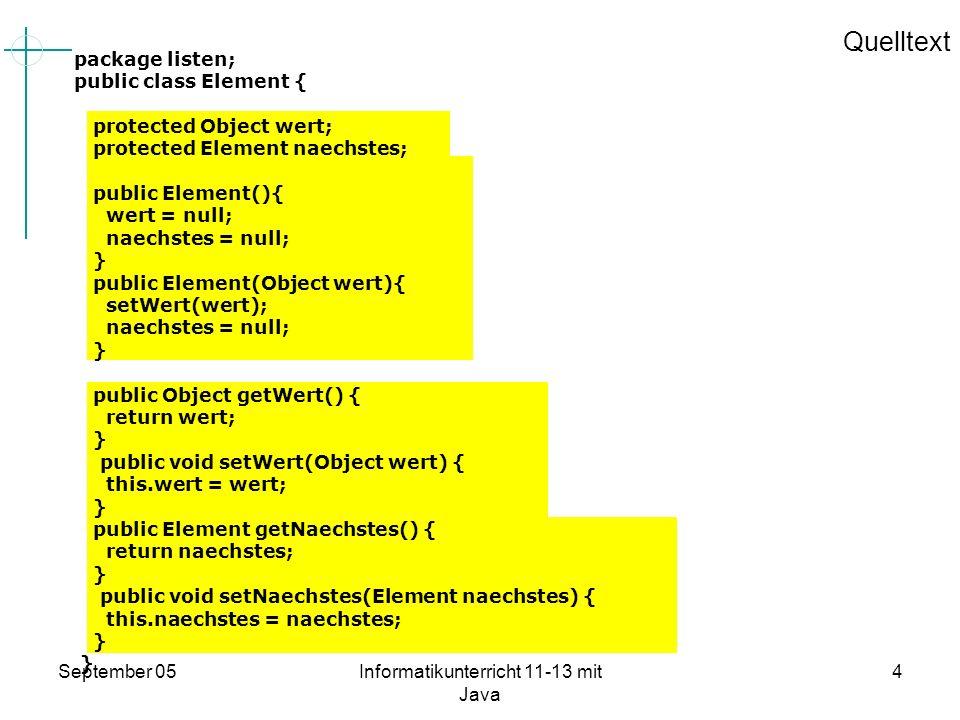 Informatikunterricht 11-13 mit Java