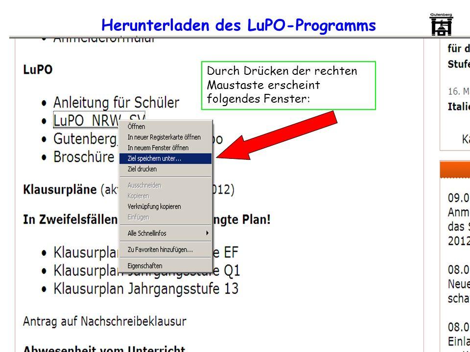 Herunterladen des LuPO-Programms