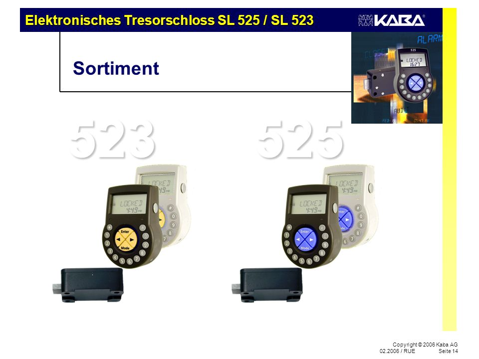 SL 525 Produktfamilie – Präsentation