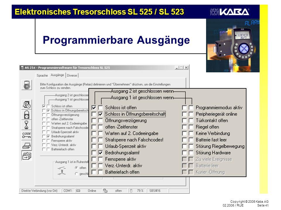 Programmierbare Ausgänge