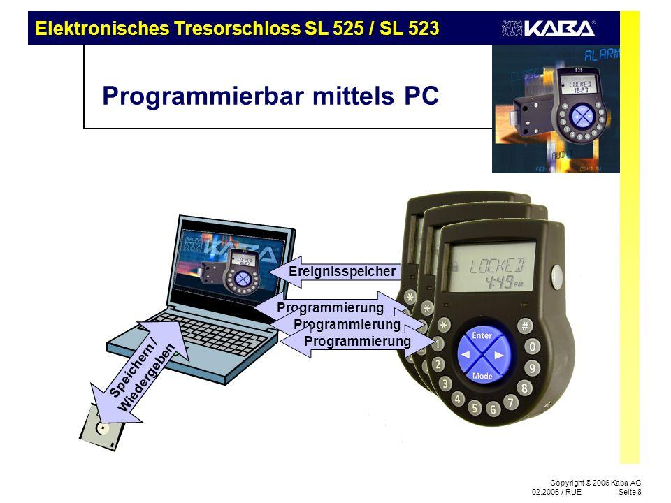 Programmierbar mittels PC