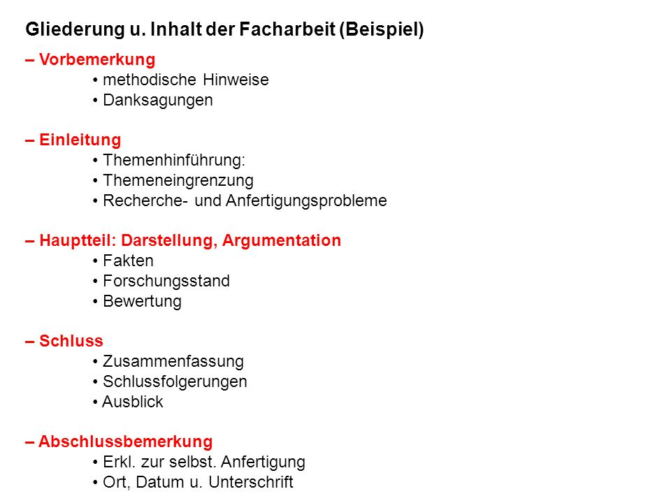 Bachelorarbeit Business Plan Gliederung Facharbeit
