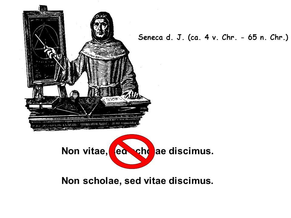 Non vitae, sed scholae discimus.