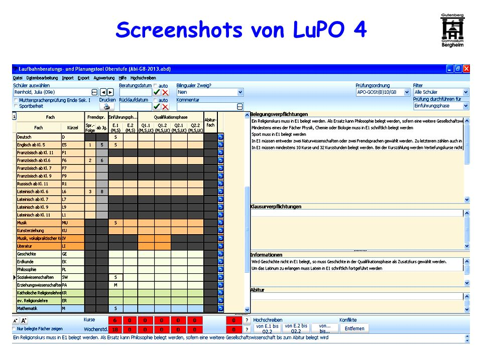 Screenshots von LuPO 4