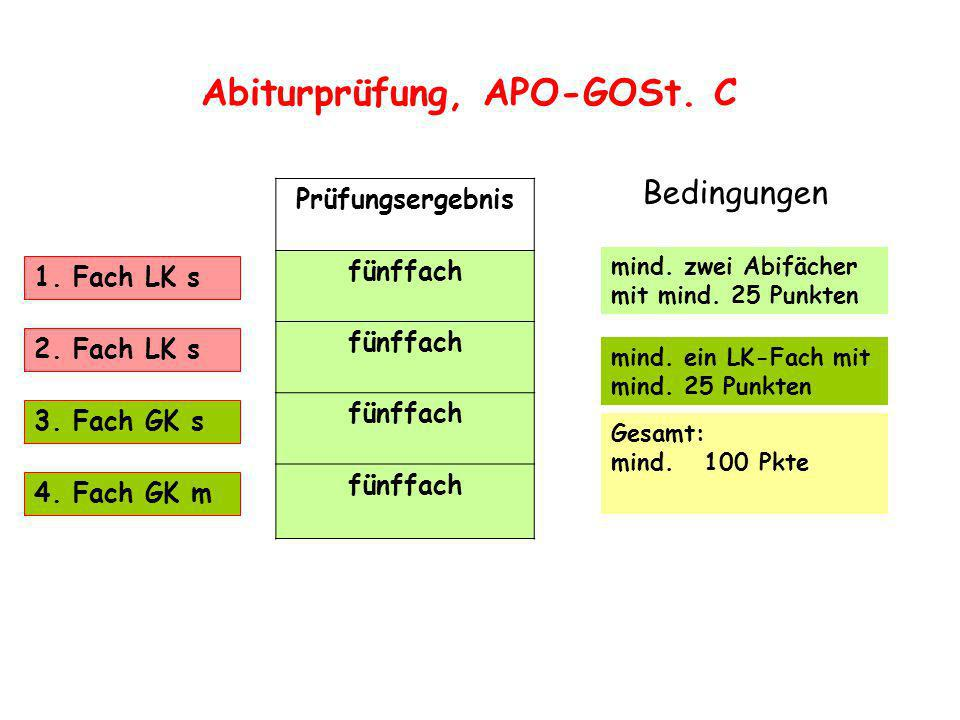 Abiturprüfung, APO-GOSt. C