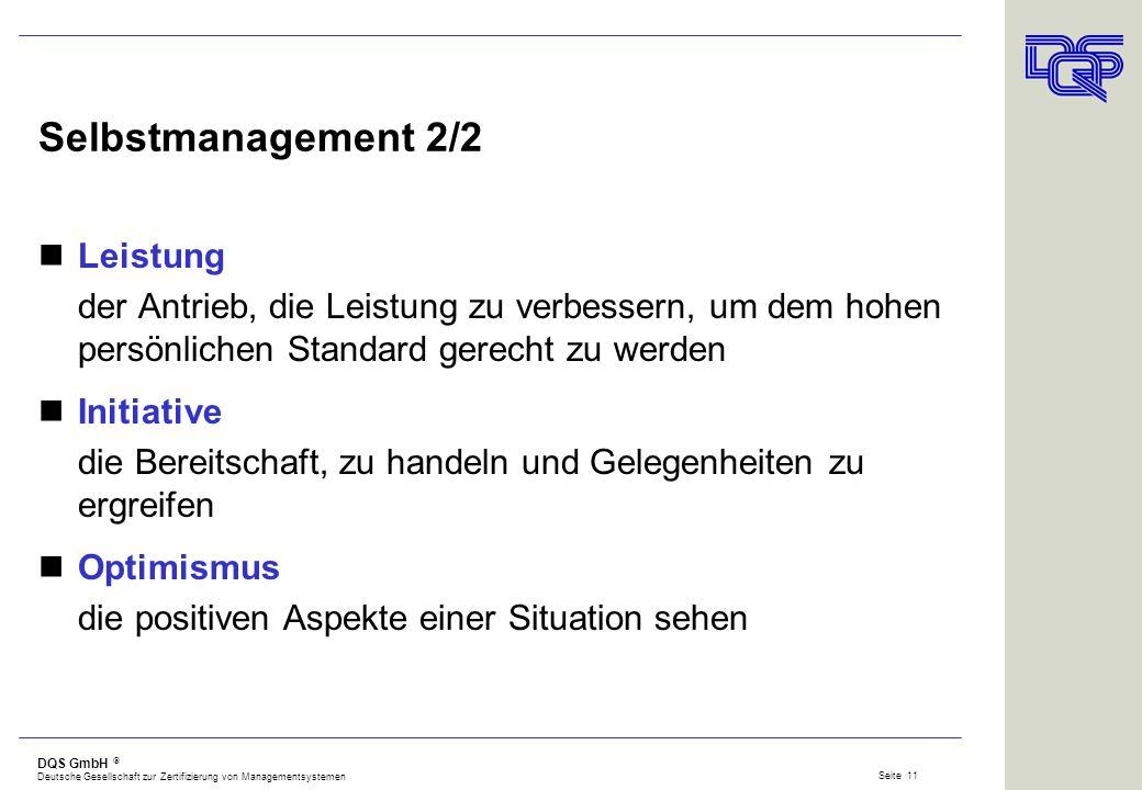 Selbstmanagement 2/2 Leistung