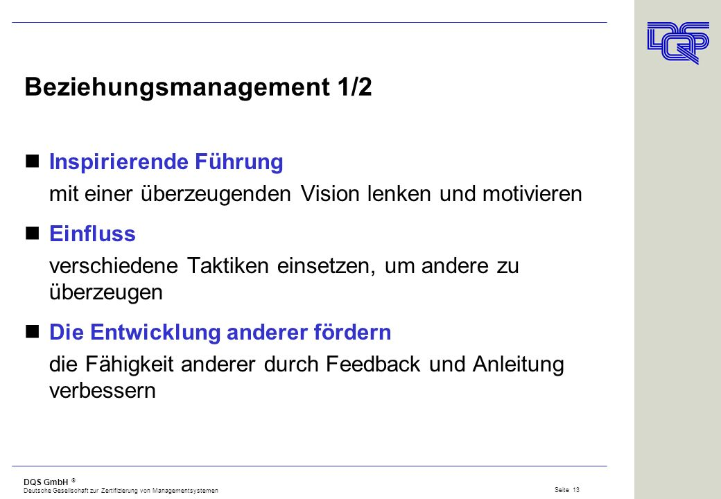 Beziehungsmanagement 1/2