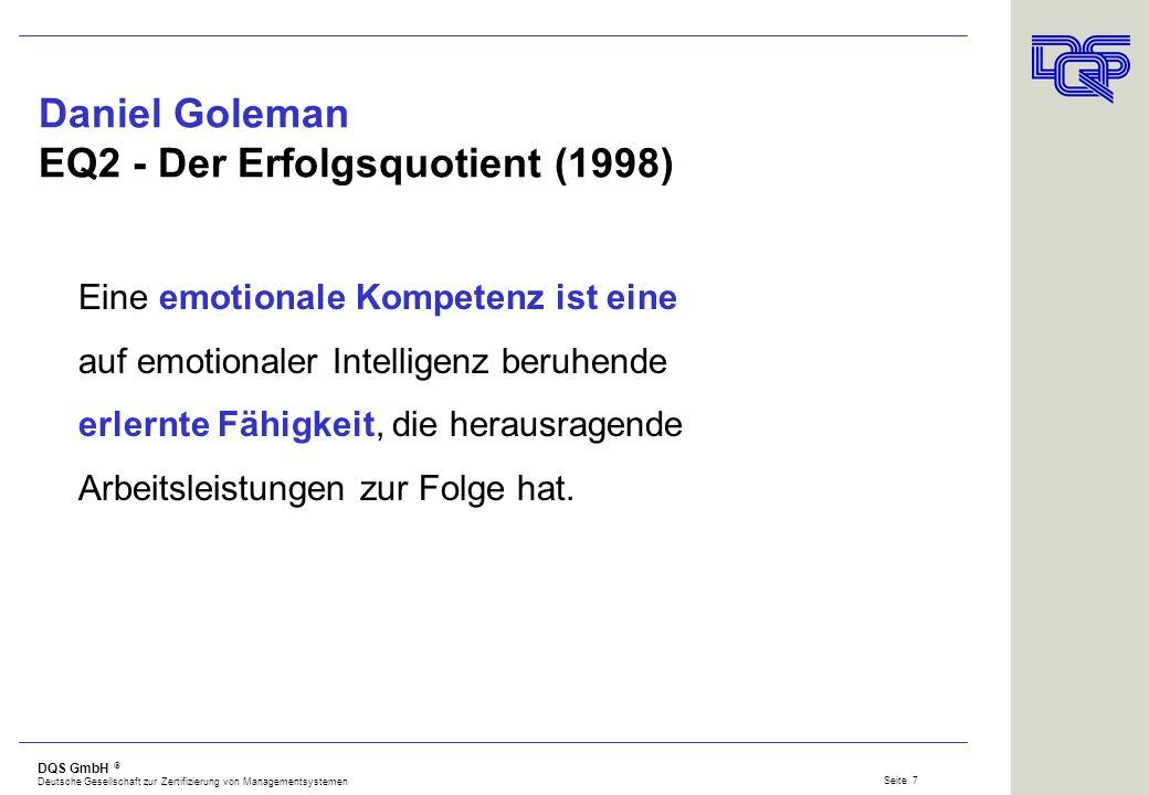 Daniel Goleman EQ2 - Der Erfolgsquotient (1998)