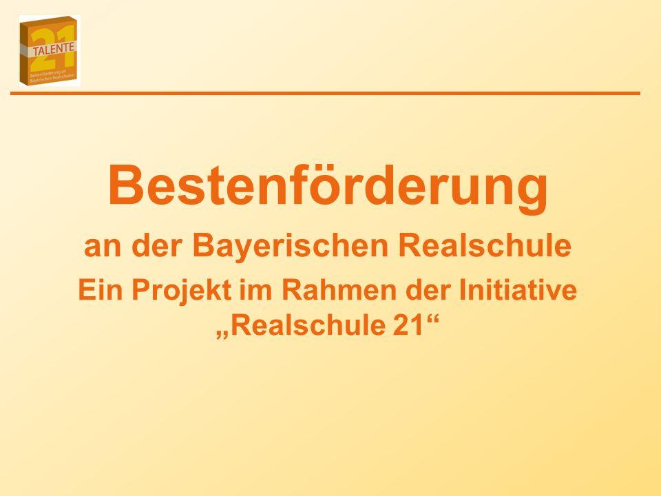 Bestenförderung an der Bayerischen Realschule