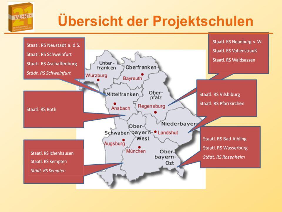 Übersicht der Projektschulen